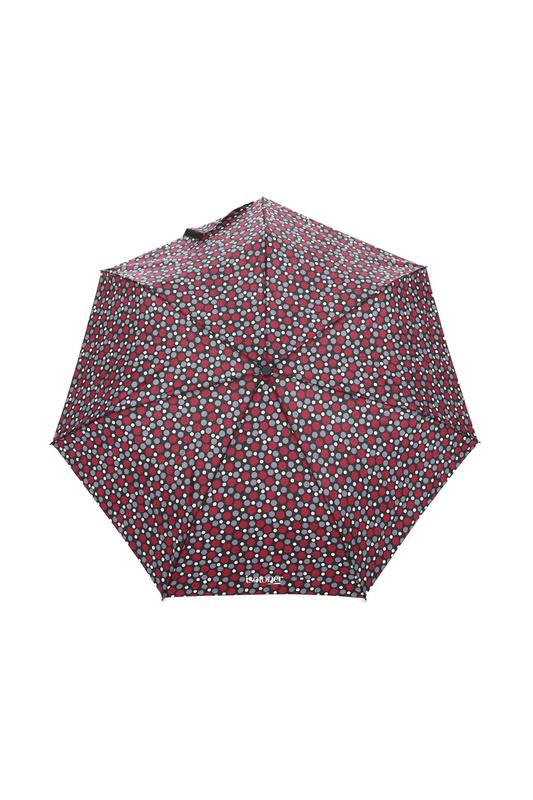 Зонт складной женский автоматический Isotoner 09397-7691 бордовый/черный