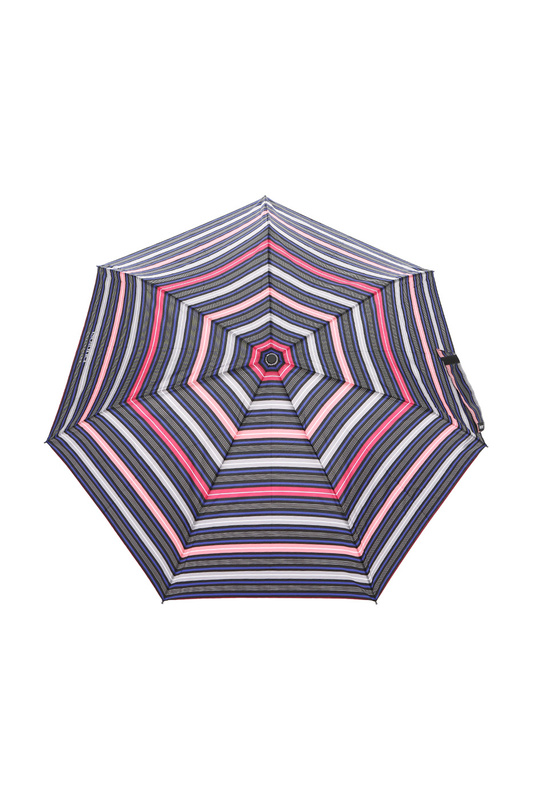 Зонт складной женский автоматический Isotoner 09397-7237 серый/розовый