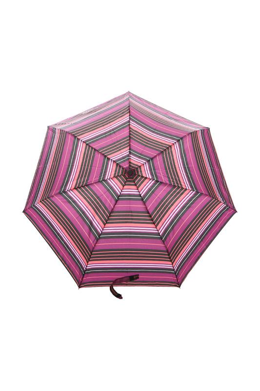 Зонт складной женский автоматический Isotoner 09358-9411 розовый/фиолетовый