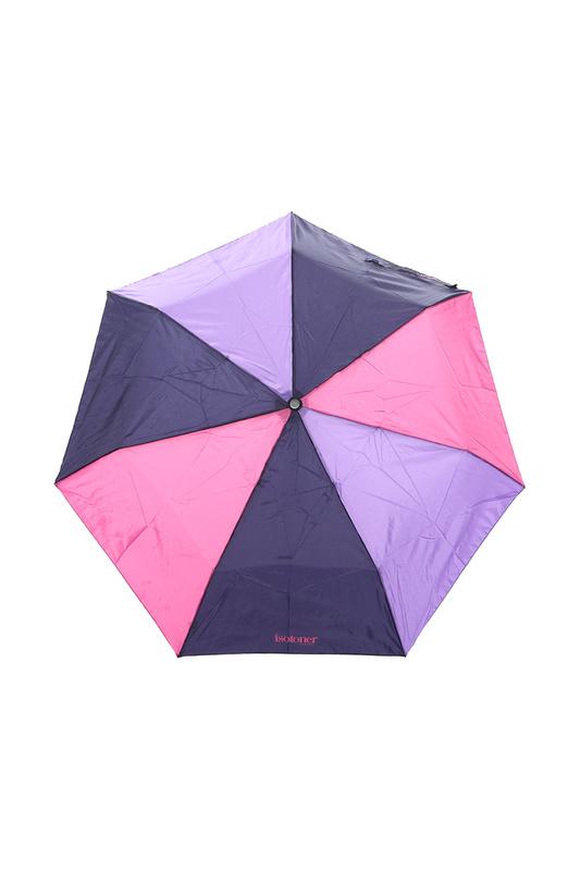 Зонт складной женский автоматический Isotoner 09358-4299 фиолетовый/розовый