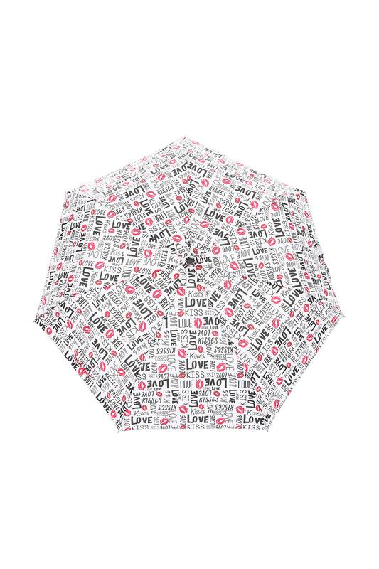 Зонт складной женский автоматический Isotoner 09358-3416 белый/черный