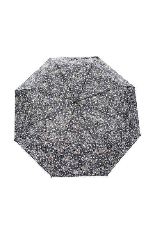 Зонт складной женский полуавтоматический Isotoner 09178-7800 серый