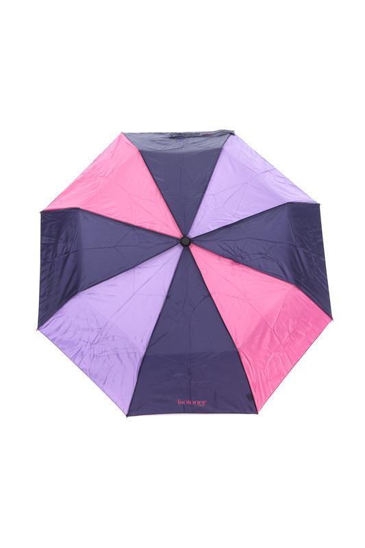Зонт складной женский полуавтоматический Isotoner 09178-6567 фиолетовый/розовый