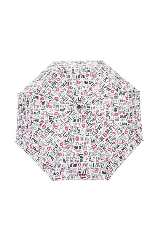 Зонт складной женский полуавтоматический Isotoner 09178-3454 белый/черный