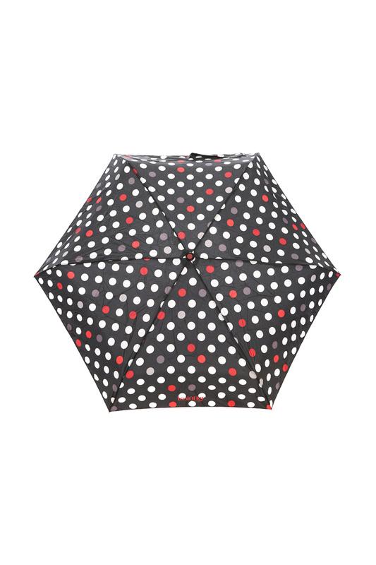 Зонт складной женский механический Isotoner 09137-0856 черный/белый