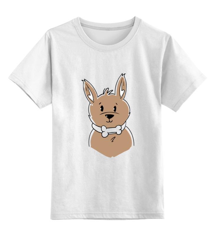 Детская футболка Printio Собачка цв.белый р.116 0000002068419 по цене 790