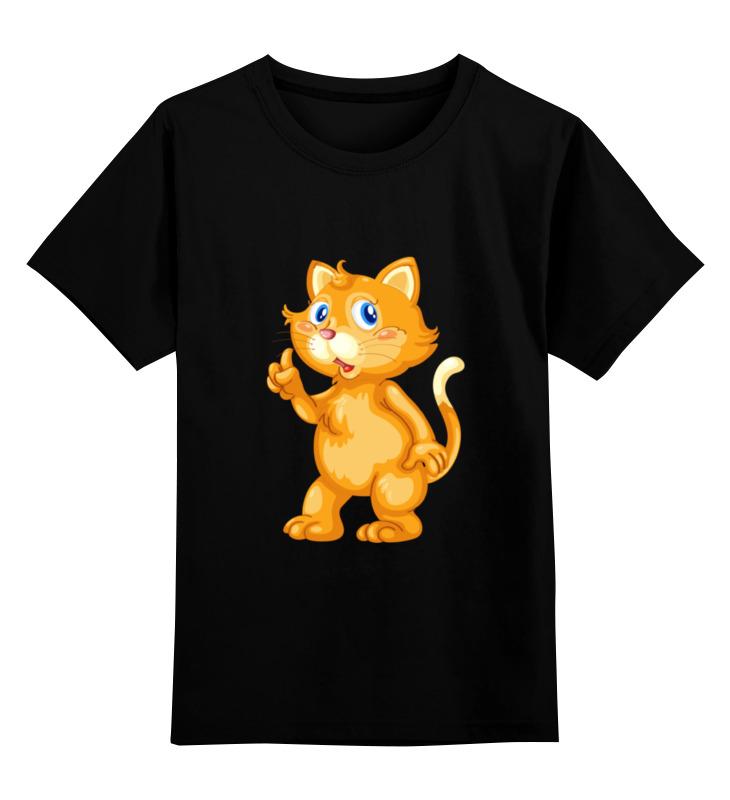 Детская футболка Printio Рыжий кот цв.черный р.116 0000002054697 по цене 990