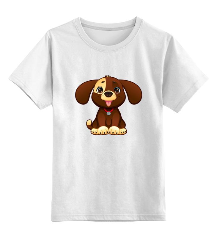 Детская футболка Printio Милая собачка цв.белый р.116 0000002052255 по цене 790