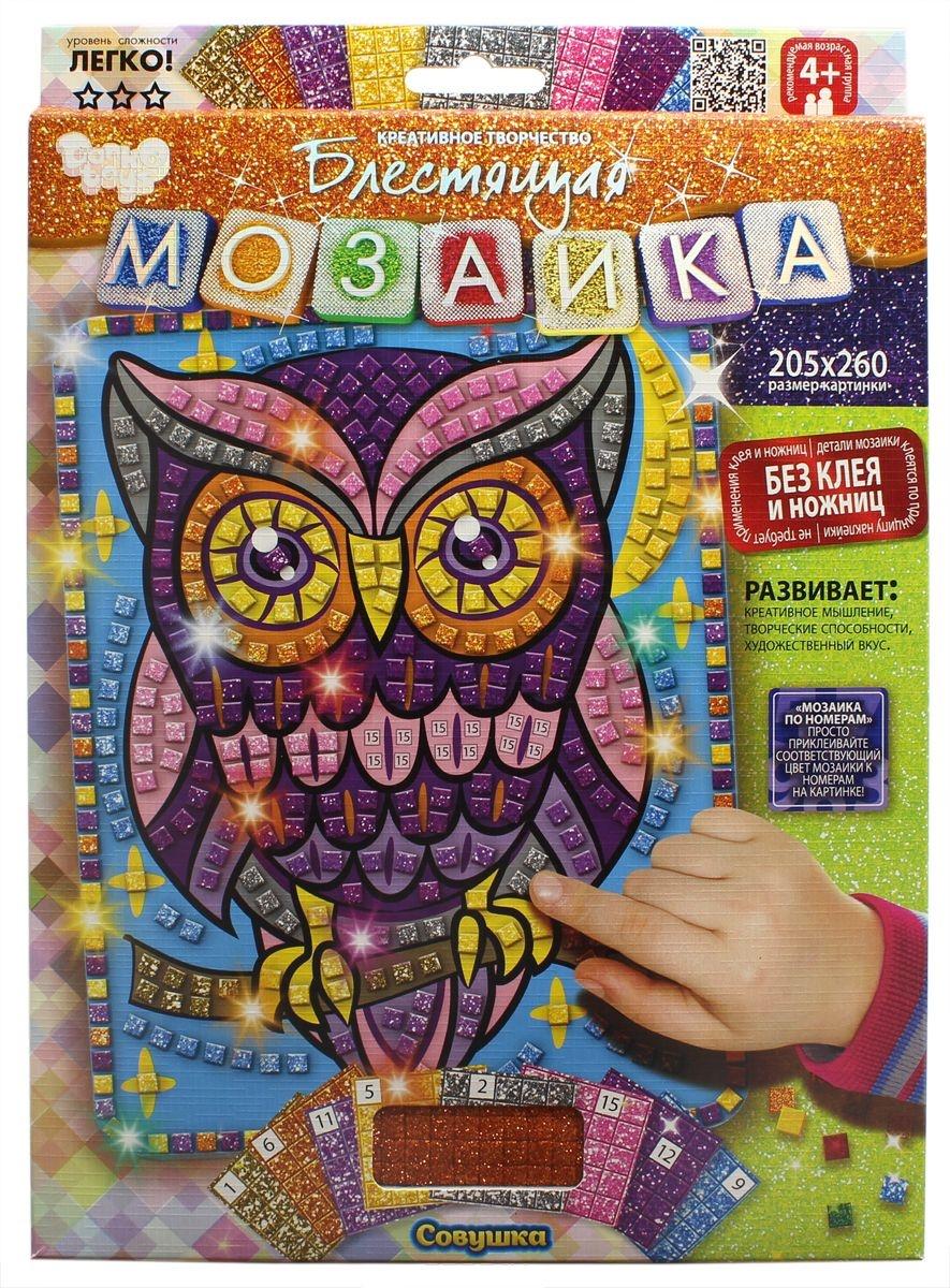 Купить Набор для творчества Danko Toys Мозаика. Совушка БМ-02-08,