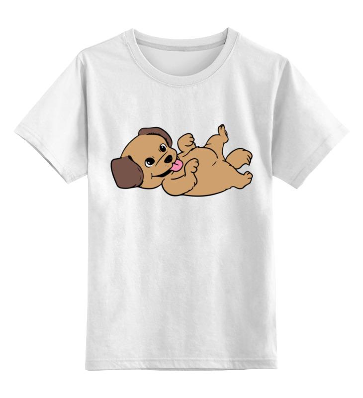 Детская футболка Printio Веселый щенок цв.белый р.128 0000002279477 по цене 790