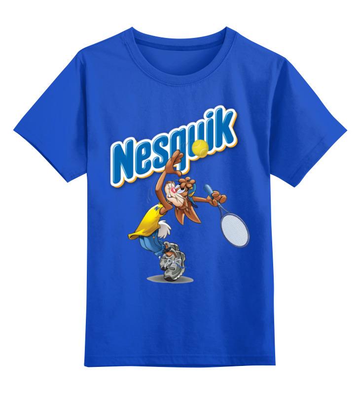 Купить 0000002165301, Детская футболка Printio Кролик 1 цв.синий р.128,