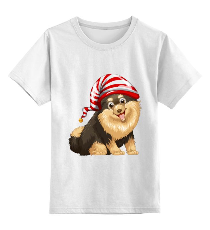Детская футболка Printio Забавный щенок цв.белый р.128 0000002090363 по цене 790