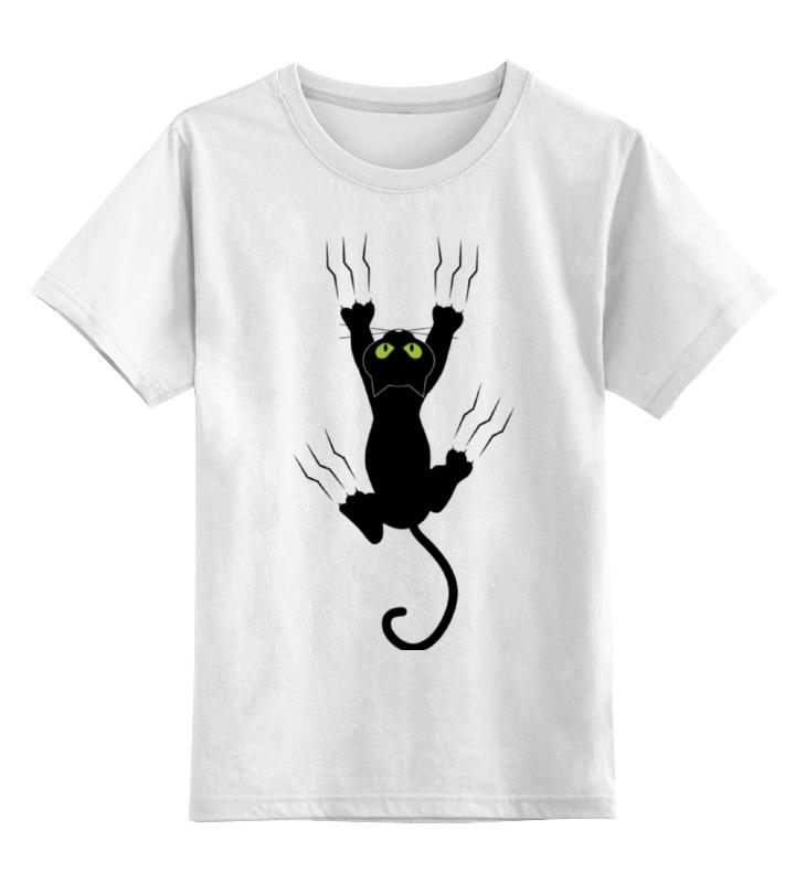 Детская футболка Printio Прикольный кот цв.белый р.128 0000002029522 по цене 790