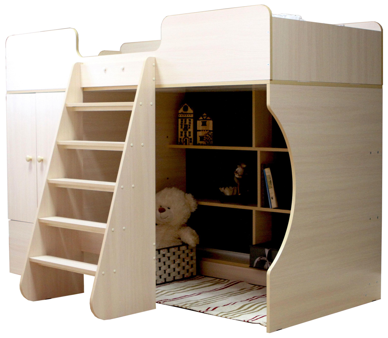 Кровать чердак Капризун Р445 со шкафом