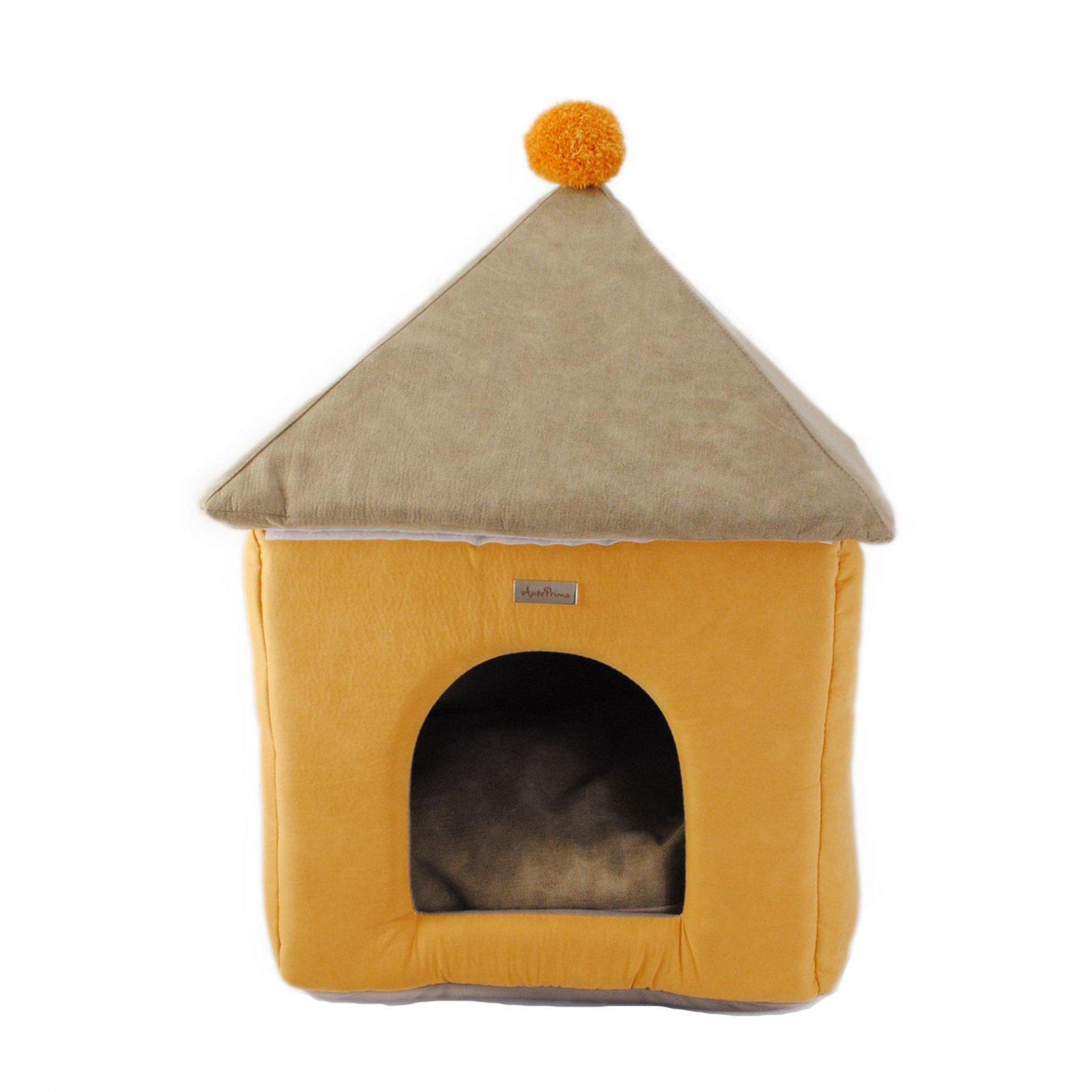 Домик для кошек и собак Anteprima PON GIALL01, бежевый, коричневый, 45x45x60см