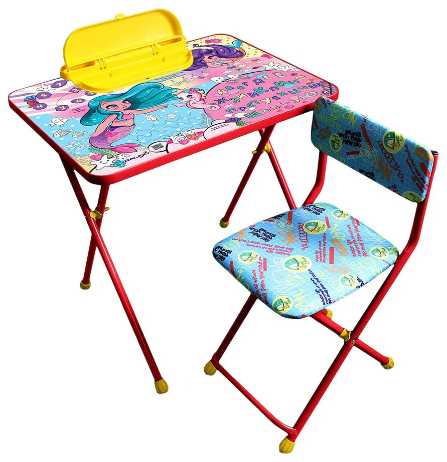 Комплект детской мебели Galaxy Русалочки красный
