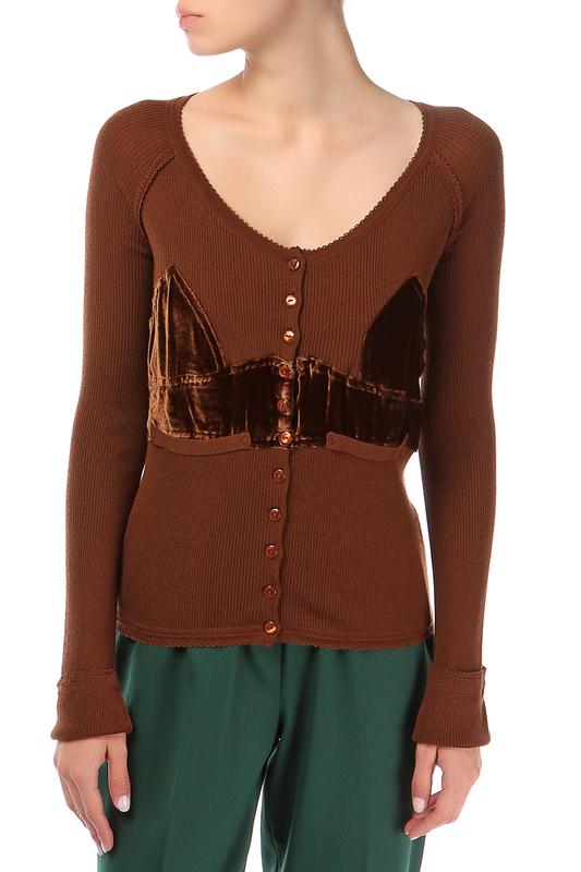 Джемпер женский John Galliano 190958 коричневый S