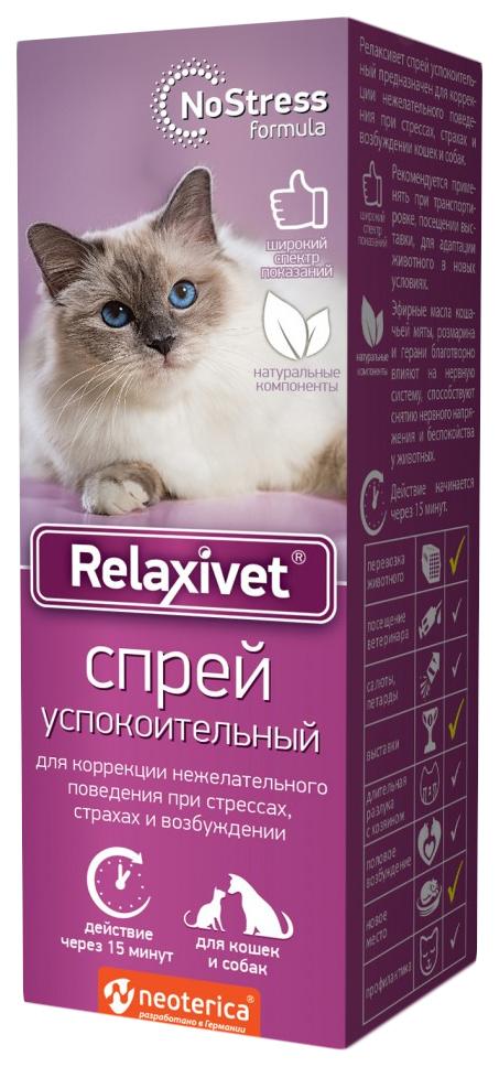 Спрей успокоительный для кошек и собак Relaxivet,
