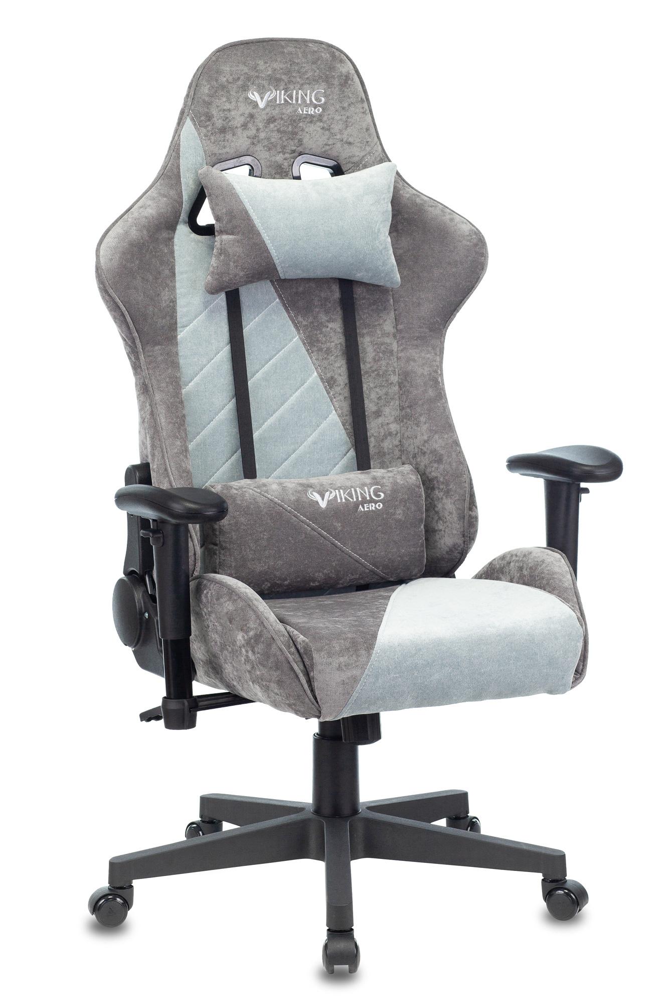 Кресло игровое Бюрократ VIKING X серый/серо-голубой