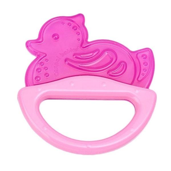Купить 13/107, Погремушка с эластичным прорезывателем Canpol 0+ мес., цвет розовый, форма уточка, Canpol Babies,
