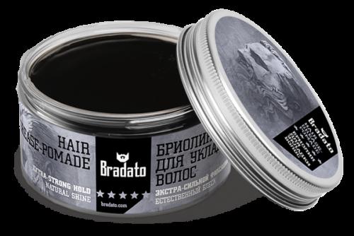 Бриолин для волос Bradato hair grease pomade