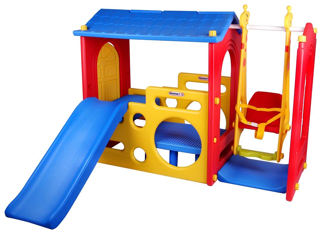 Игровой комплекс Haenim Toy Дом с горкой