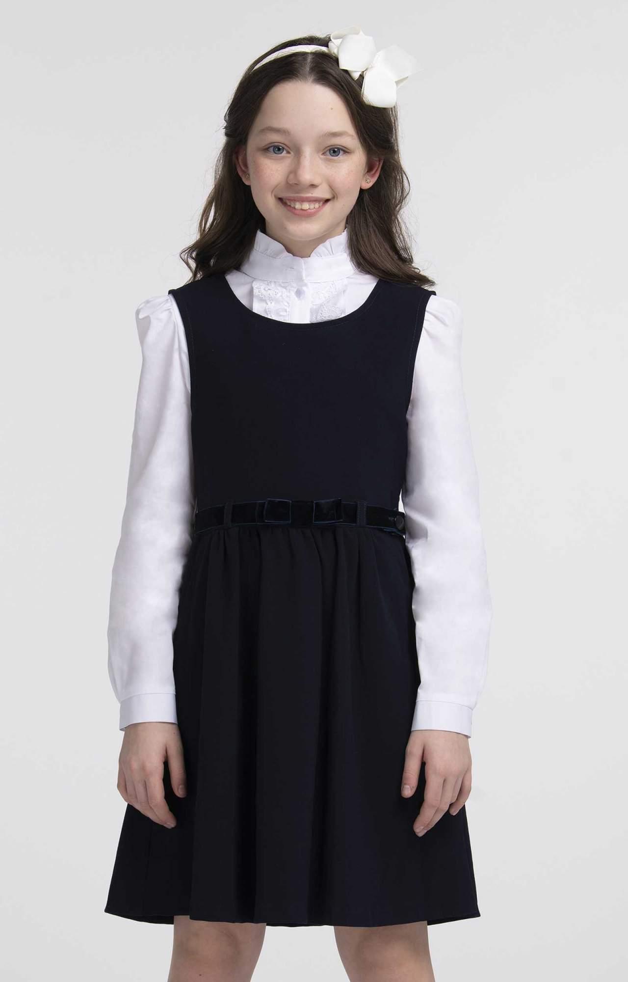 Сарафан для девочек SMENA цв.синий SCH19-19033D047.01-g-D6 р.164/84