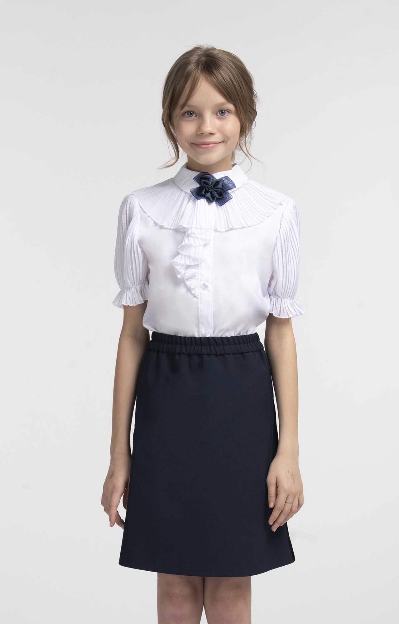 Блузка для девочек SMENA цв.белый SCH19-19019B012.01-g-00 р.152/76