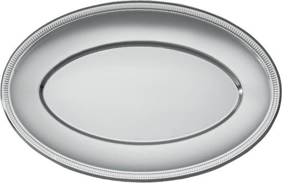 Поднос овальный серебристый 45,5*29 см 2 штуки
