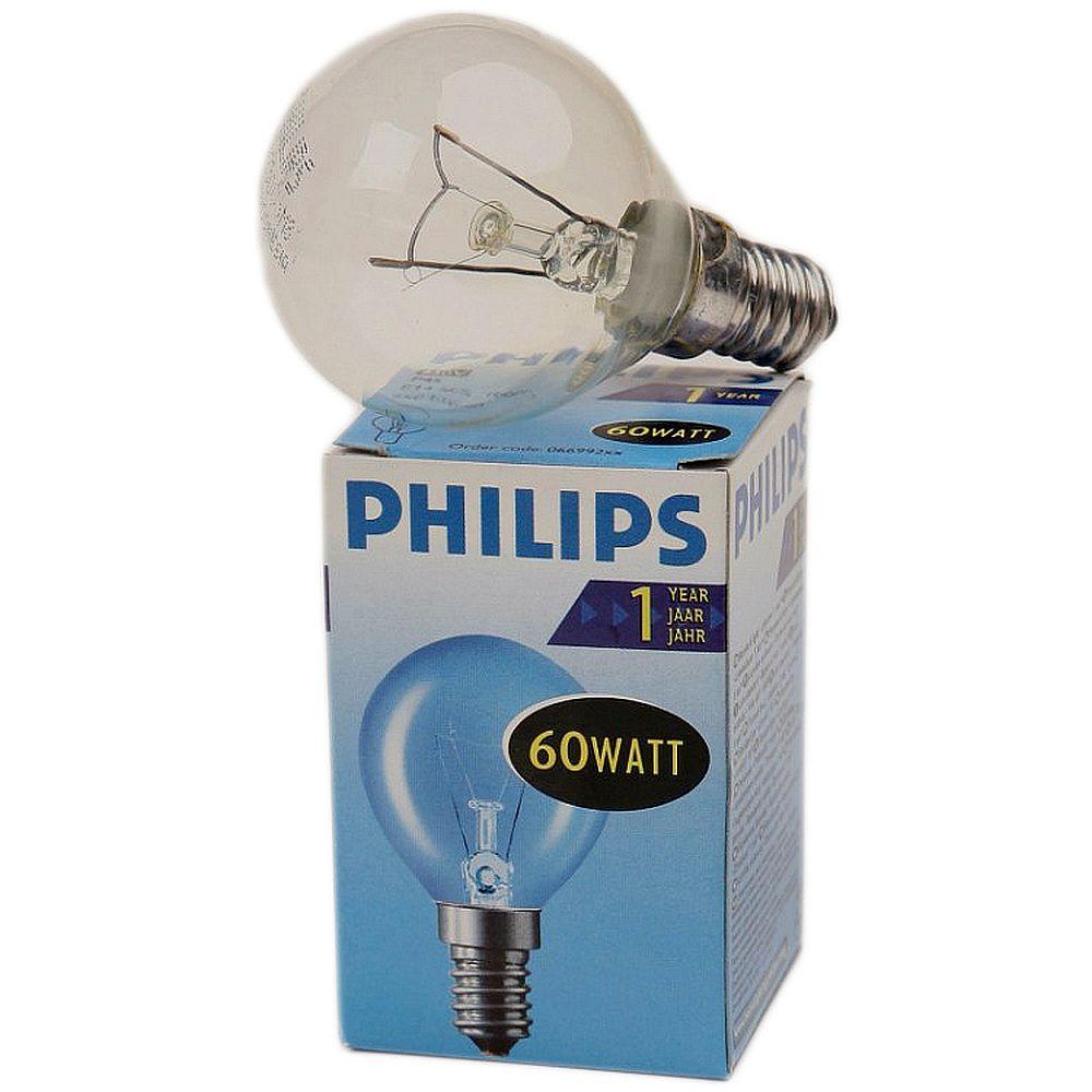 Лампа накаливания PHILIPS P45 60W E14 CL