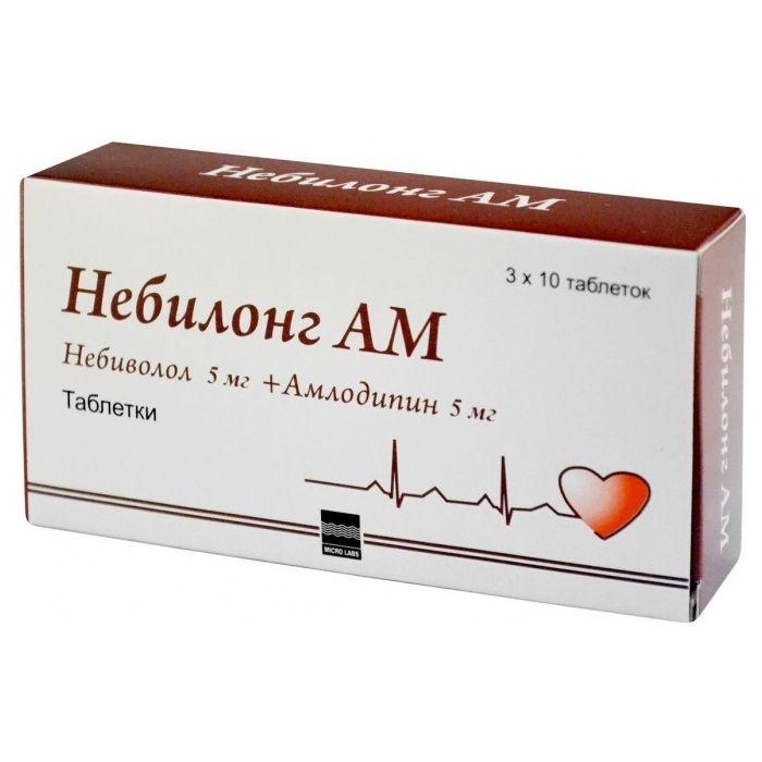 Небилонг АМ таблетки 5 мг+5 мг 30 шт.