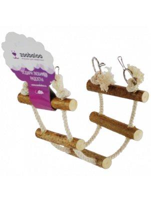 Игрушка для грызунов Zoobaloo Канатная лесенка, 35х10