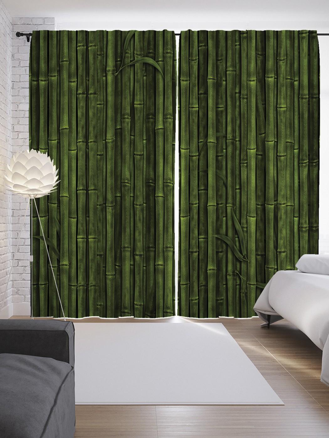 шторы из бамбука с картинками для