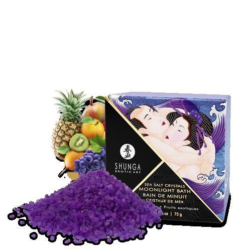 Купить Ароматическая соль для ванны Shunga Экзотические фрукты MOONLIGHT BATH, Ароматическая соль для ванны мини-версия Экзотические фрукты MOONLIGHT BATH Exotic Fruits