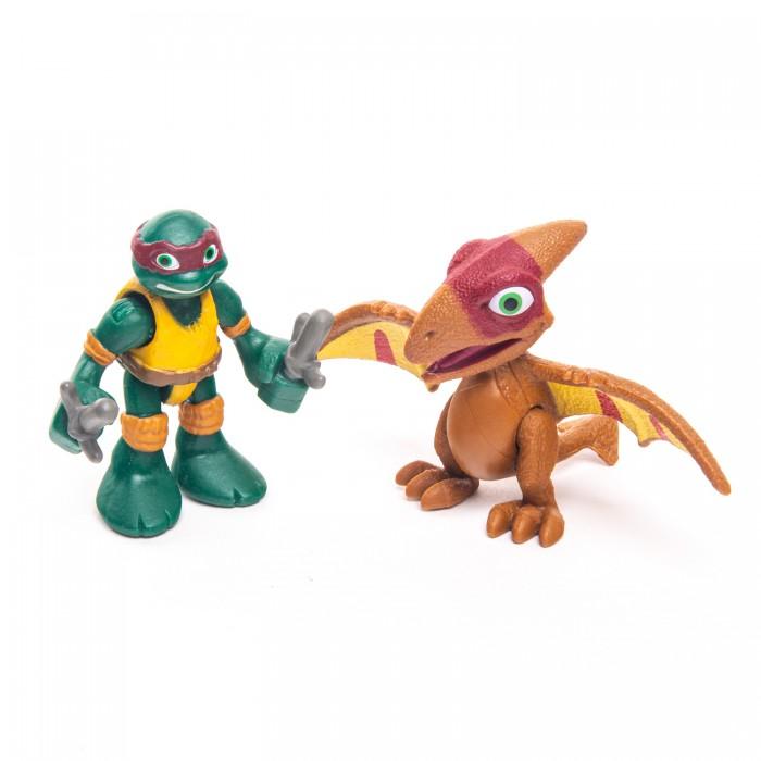 Купить Фигурка Playmates Pre Cool Черепашки-ниндзя Дино Раф с Птеранодоном, Playmates Toys,