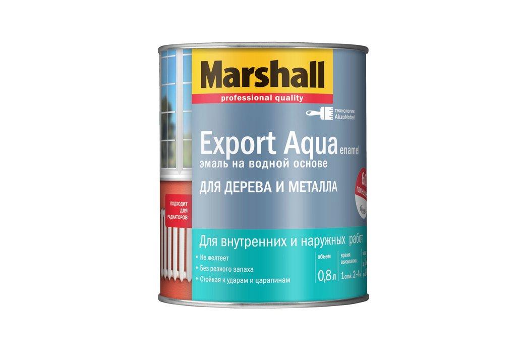 Эмаль MARSHALL Export Aqua белая 0,8 л фото