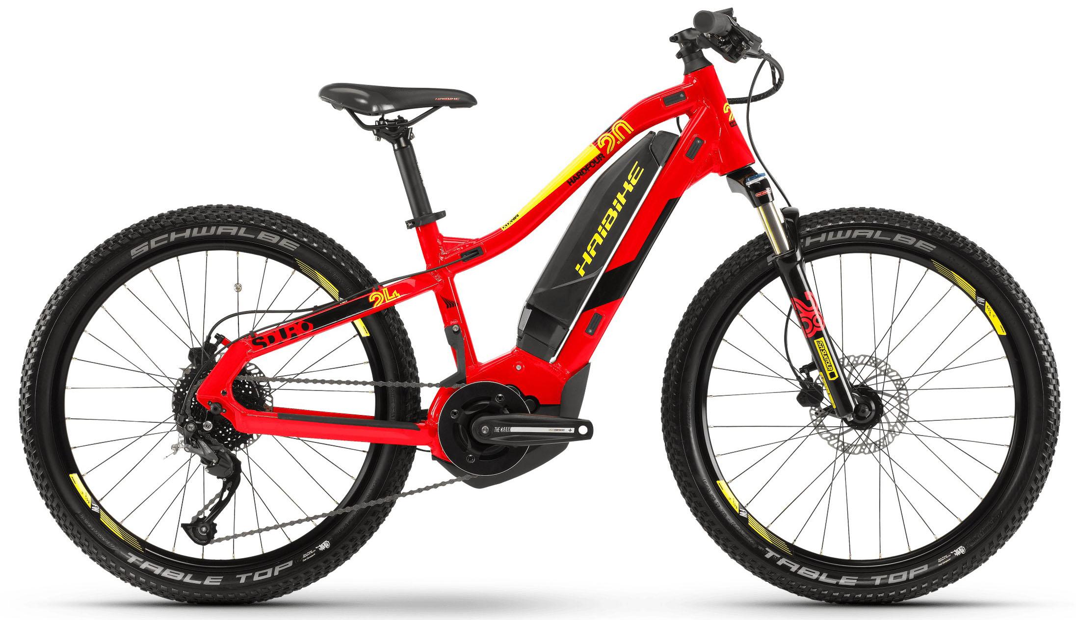 "Электровелосипед Haibike SDURO HardFour 2.0 (2019) размер рамы 34 см"" Красно-черно-желтый"