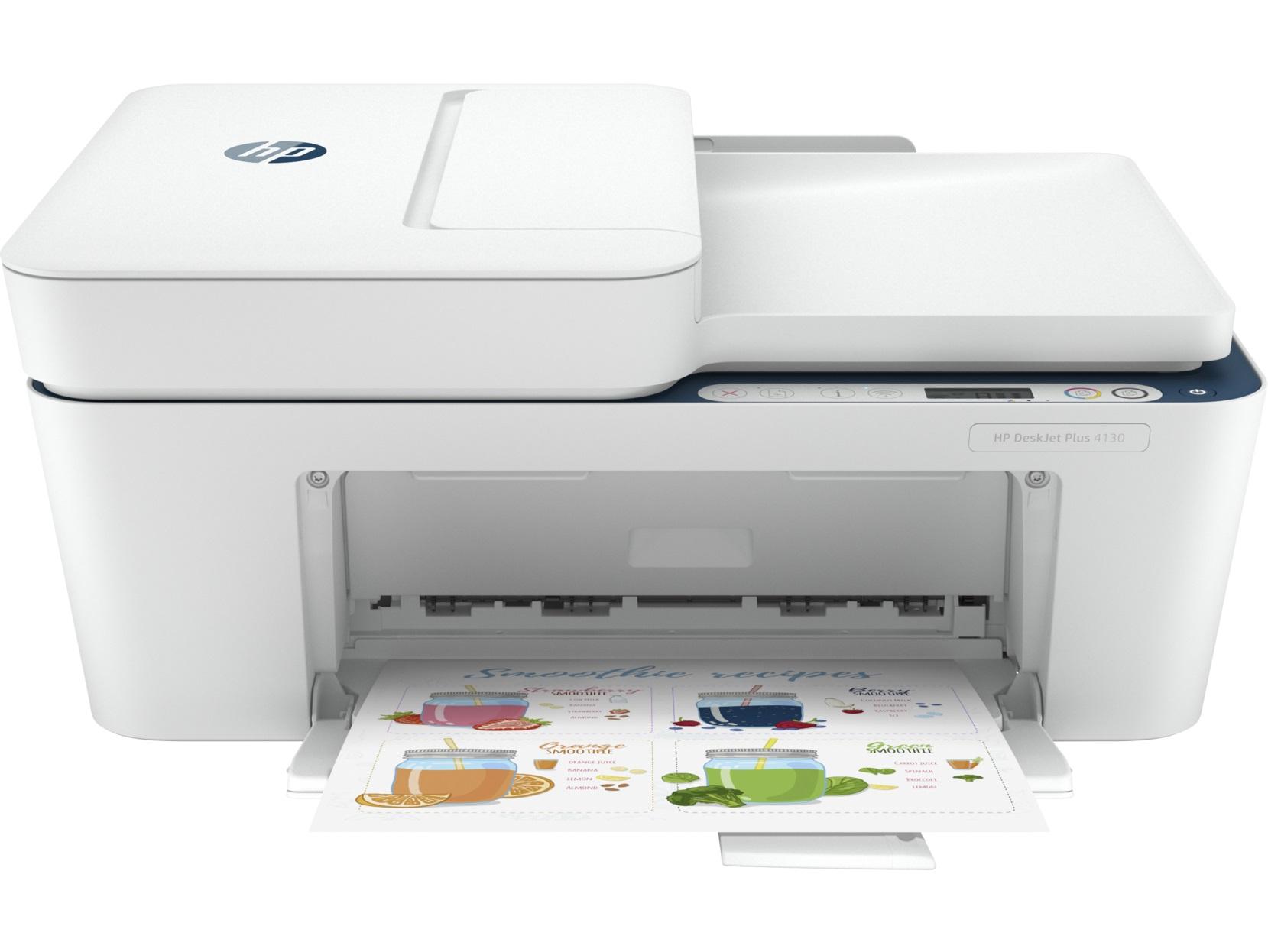 Струйное МФУ HP DeskJet Plus 4130 White
