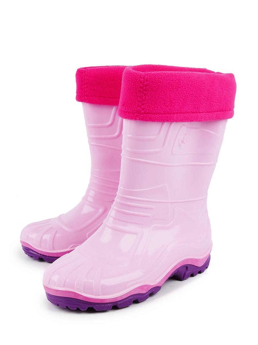 Резиновые сапоги Дюна 230-02 УФ Розовый цв. розовый р.27