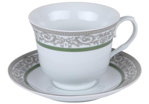 Чайная пара ROSENBERG, 270 мл, зеленый узор