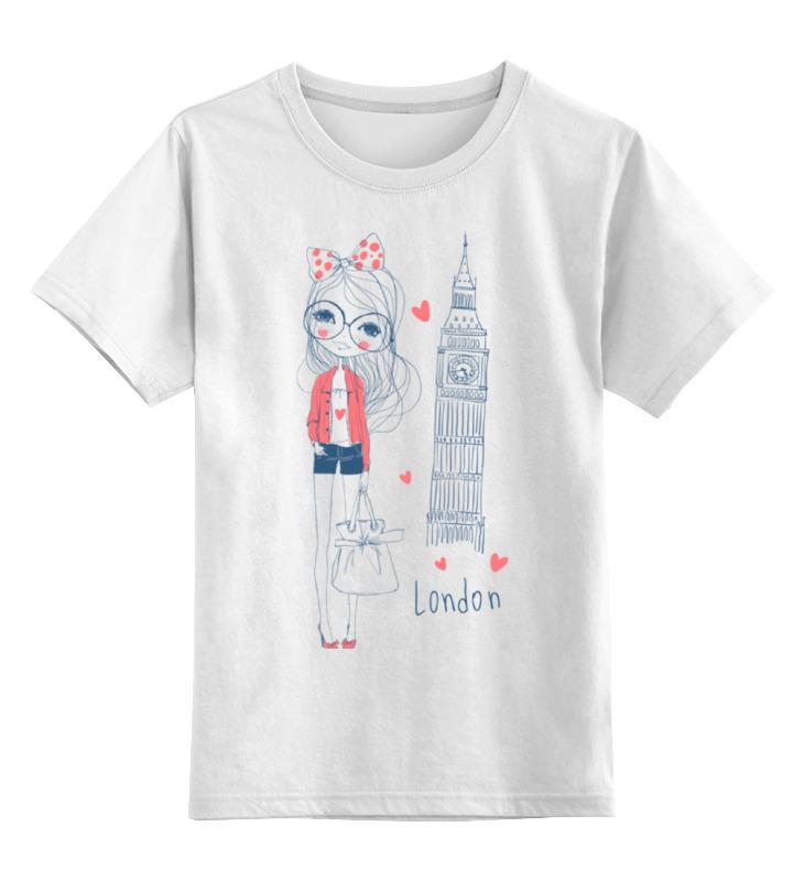 Детская футболка Printio Лондон цв.белый р.140 0000002123326 по цене 790
