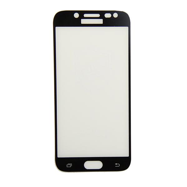 Защитное стекло для Samsung SM-J530F (Galaxy J5 2017) (2.5D/полная наклейка) <черный> Promise Mobile