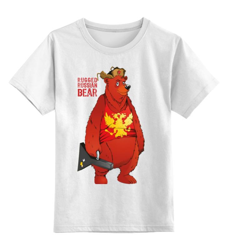 Детская футболка Printio Rugged russian bear цв.белый р.152 0000000933334 по цене 890