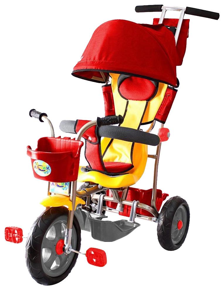 Велосипед детский трехколесный Galaxy Лучик с капюшоном красный