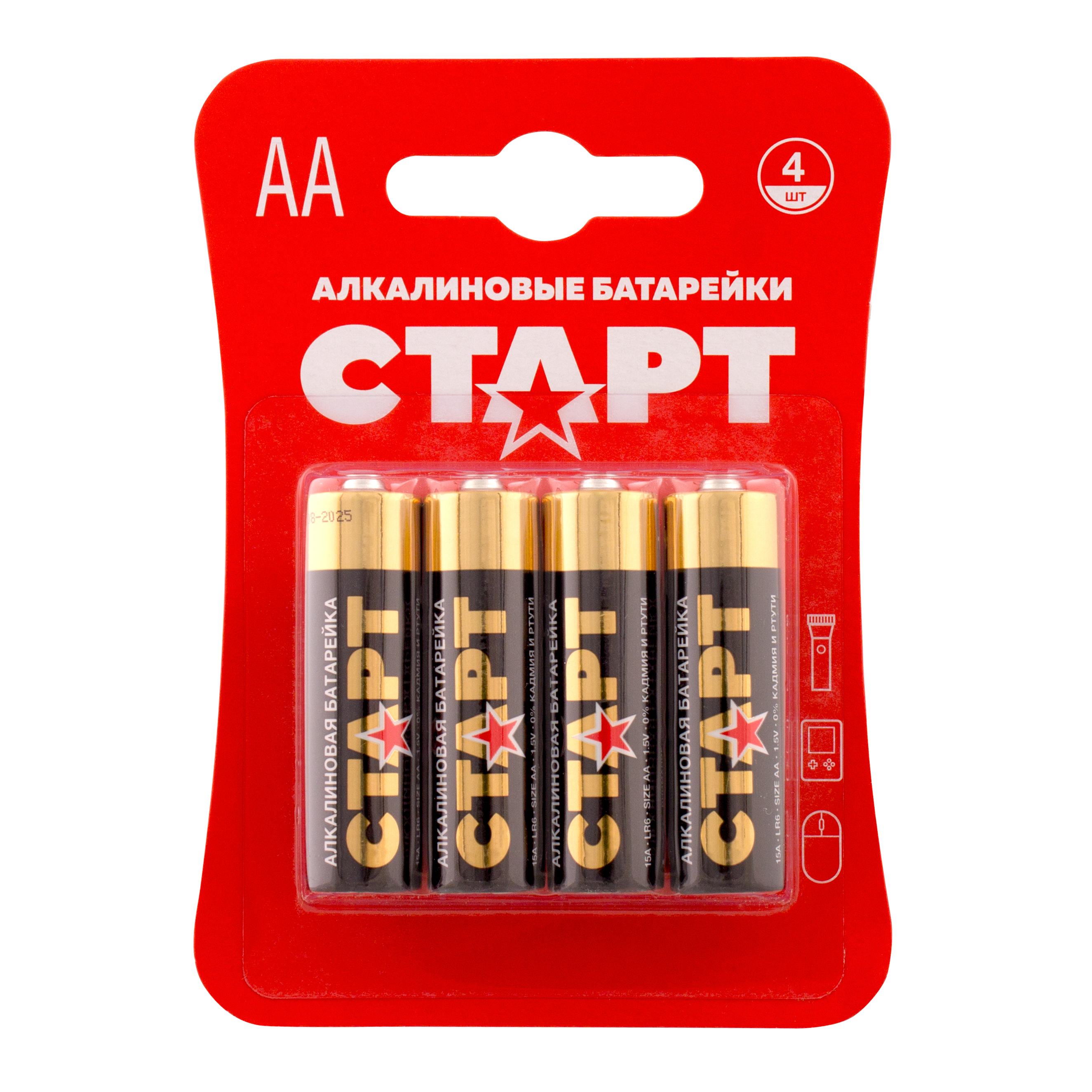 Батарейка СТАРТ LR6 BL4 AA 4 шт
