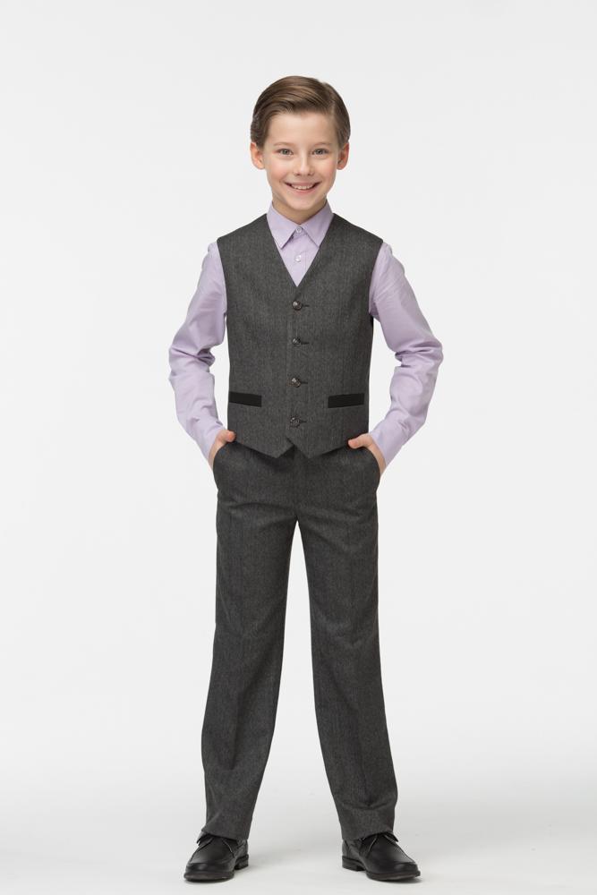 Купить Жилет для мальчиков СМЕНА цв.серый 16с94 р.128/64, Смена, Жилеты для мальчиков