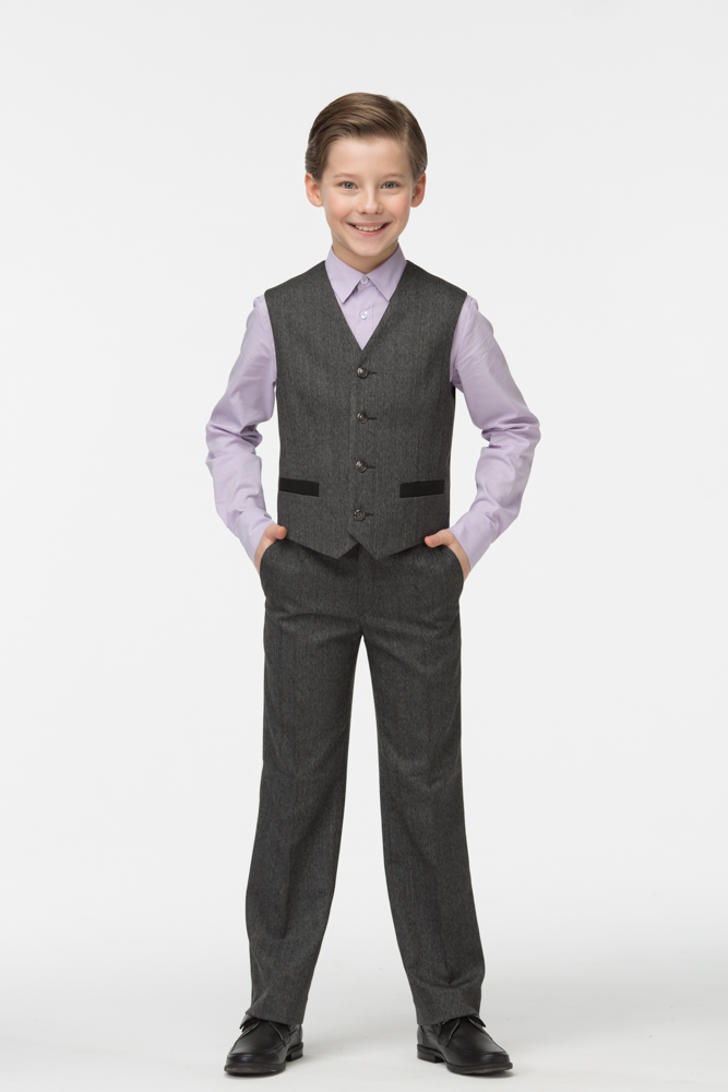 Купить Жилет для мальчиков СМЕНА цв.серый 16с94 р.152/72, Смена, Жилеты для мальчиков