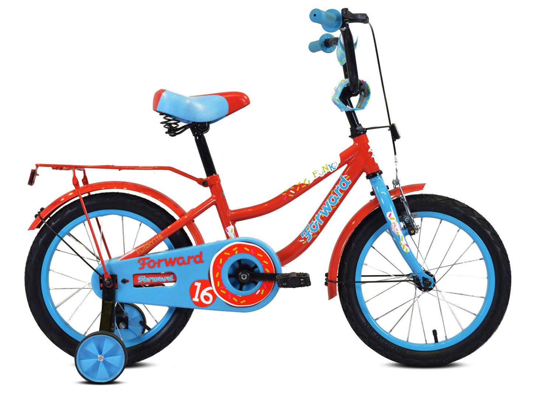 Велосипед Forward Funky 18 2020 красный/голубой