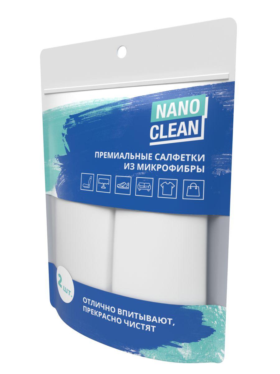 Премиальные салфетки NanoCleanиз микрофибры, 2 шт