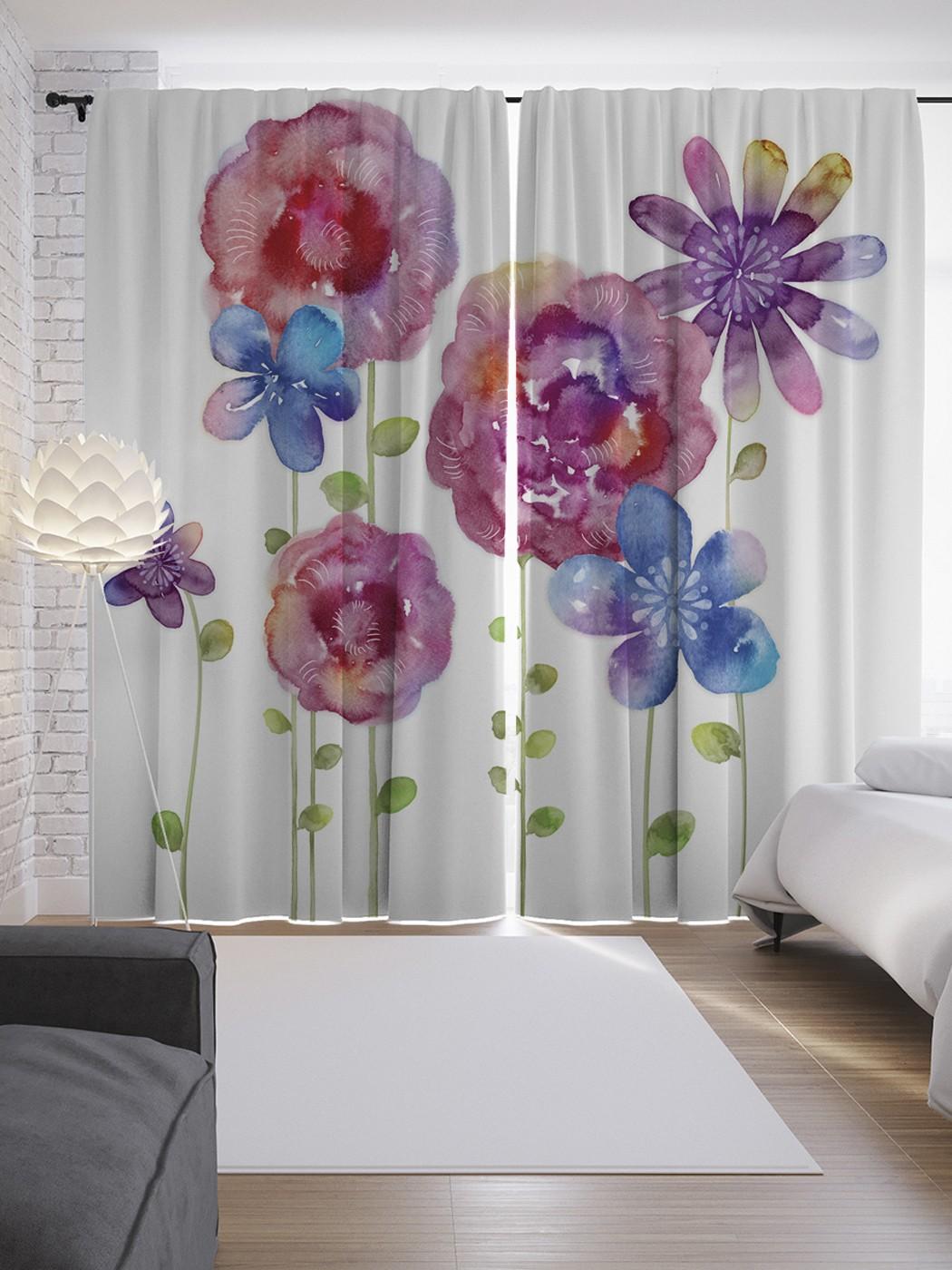 фотопечать цветы на шторах каталог